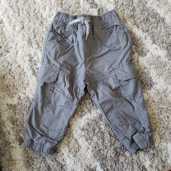 Crazy 8 Other - 🌈NWT baby boy gray lined cargo joggers